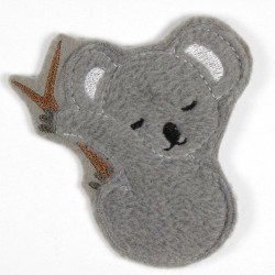 Iron-on patch Koala in fleece appliqué to iron on or patches and accessories