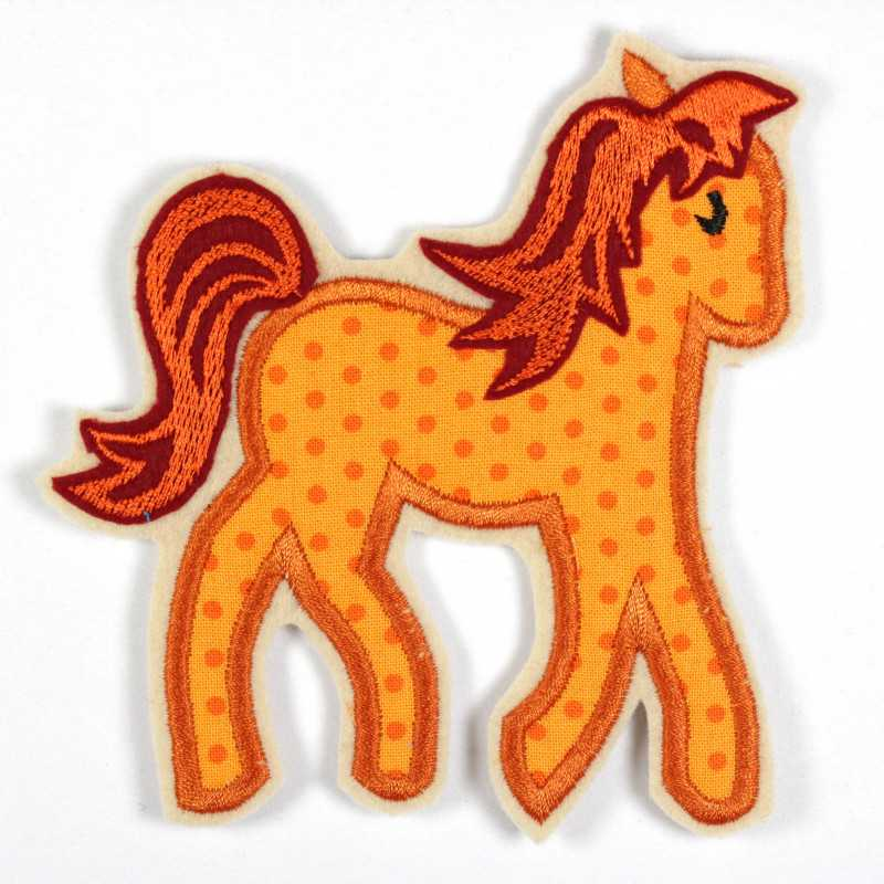 Iron-on patch horse as appliqué to iron on or patches and accessories, patches for children