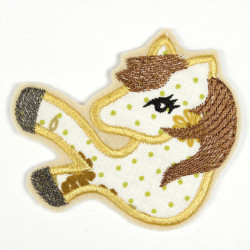 Iron-on patch horse as appliqué to iron on or patches and accessories, patches for children, available in two colors