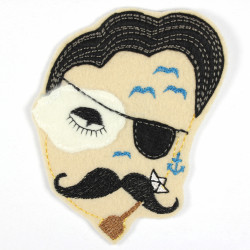 Iron-on patch pirate as an appliqué to iron on or patches and accessories, patches for adults