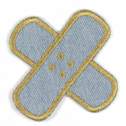 Flickli - the patch! pavement round light blue gold