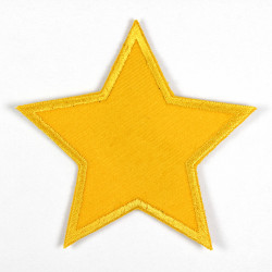 yellow star iron-on patches corduroy strong applique usable as pants patches and knee patches