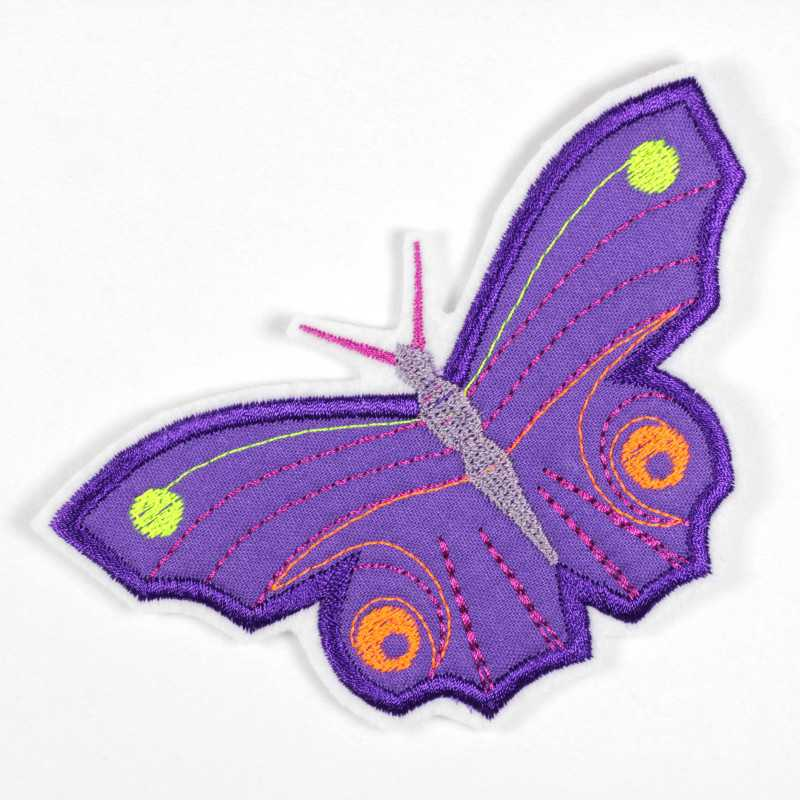 colorful iron-on patch butterfly as appliqué to iron on or patches and accessories