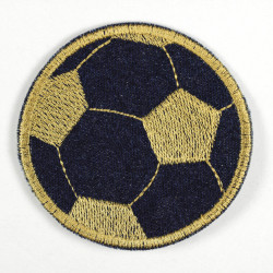 Flickli football denim dark blue golden colored embroidery