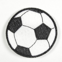 Iron-on patch football as an iron-on appliqué or patch and accessories