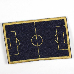 football field golden on denim dark blue
