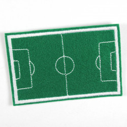 Iron-on patch football field as an applique to iron on or patches and accessories