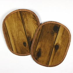 Flickli - the patch! Set oval retro wood
