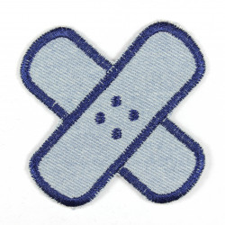 Flickli - the patch! pavement round light blue dark blue