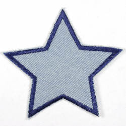 patch Flickli - the patch! Star denim light blue dark blue