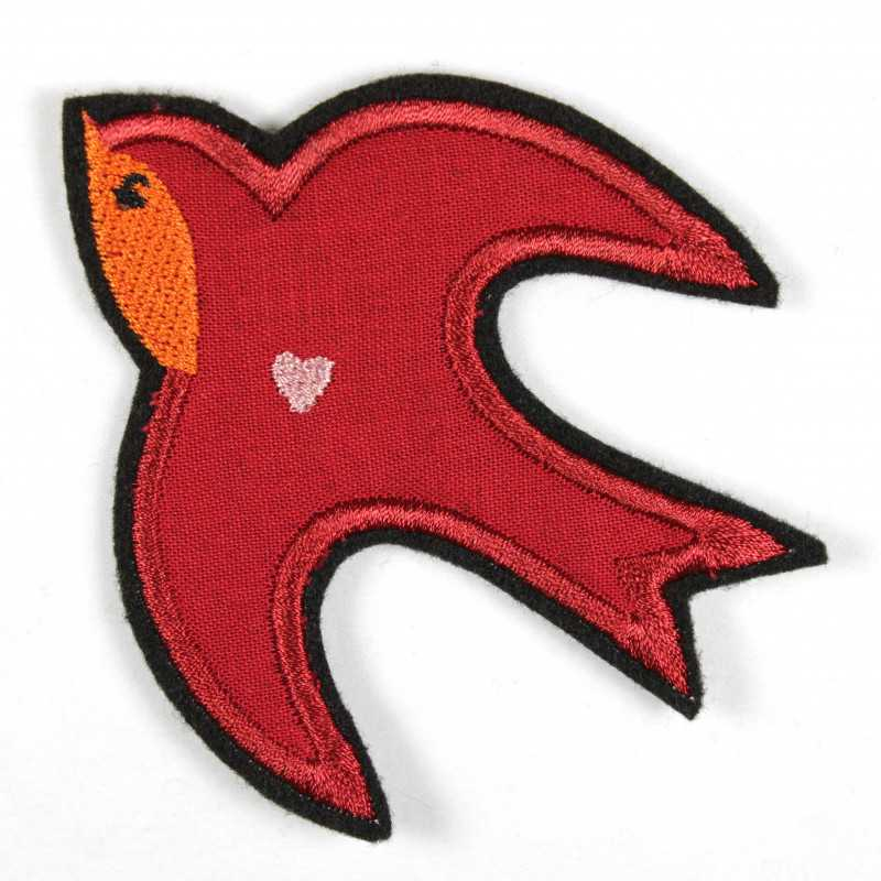 iron-patches swallow embroidered bird applique accessory