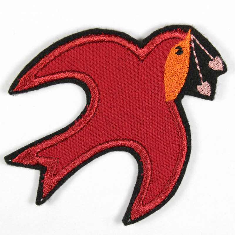 Iron-on patch swallow iron-on as appliqué for ironing on embroidered patches