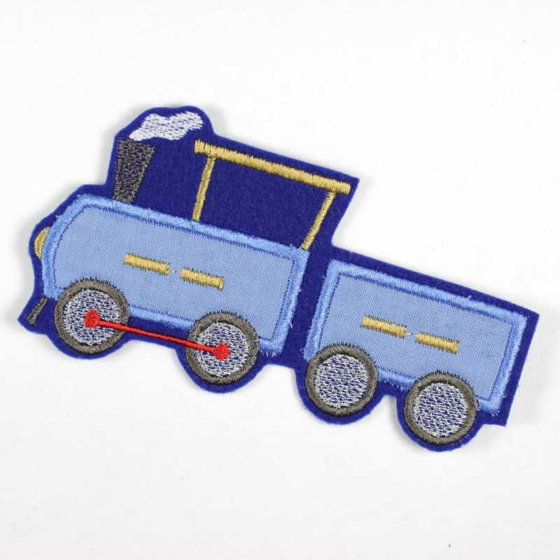 Iron-on locomotive as a patch, applique and iron-on accessory