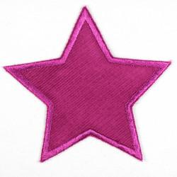 Sterne Aufbügler Flickli Stern lila