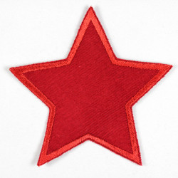 Iron-on patches in a star shape, suitable as elbow patches or knee patches