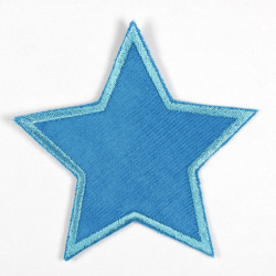 Flickli - the patch! Star turquoise