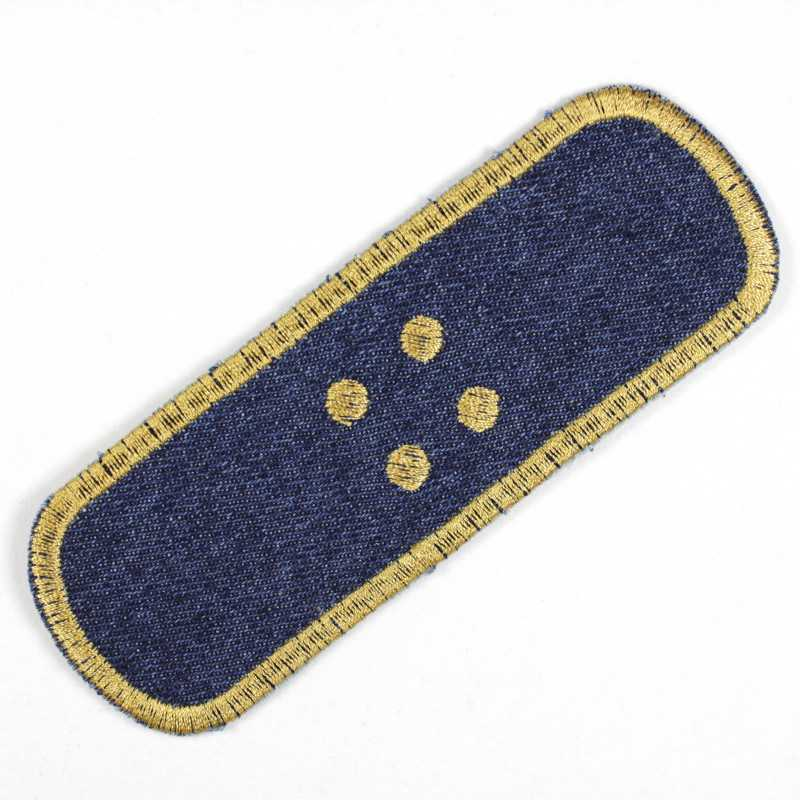 iron on patches plaster blue jeans gold band aid applique small