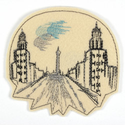 """Frankfurter Tor"" applique to iron-on"