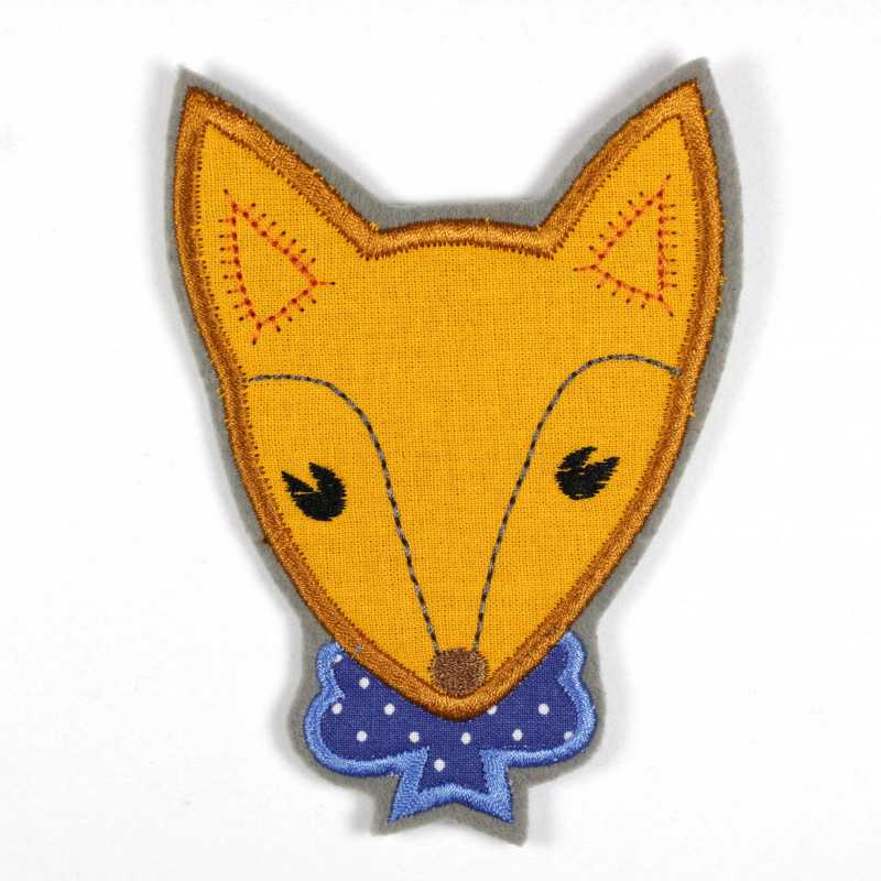 Iron-on patch fox as an appliqué to iron on or patches and accessories