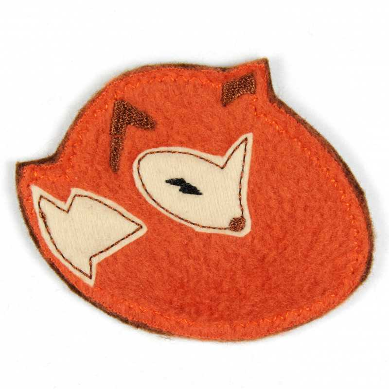 Iron-on patch fox with fleece as iron-on appliqué or patch and accessories