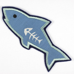 Iron-on patch shark as an appliqué to iron on or patches and accessories