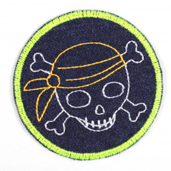 patch pirate border neon yellow