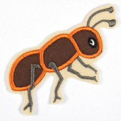 Iron-on patch ant as iron-on appliqué or patch and accessories, patch for children