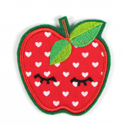 iron-on patches apple applique and cute accessory