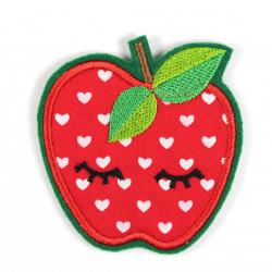 Bügelbild Apfel als Applikation zum aufbügeln oder Aufnäher und Accessoires