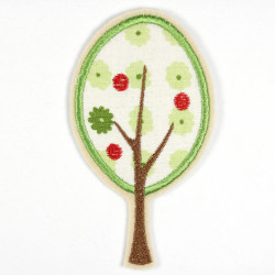Iron-on patch apple tree as iron-on appliqué or patch and accessories