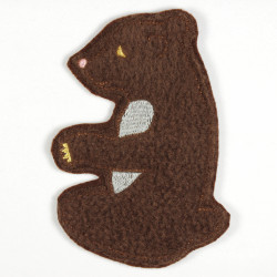 Iron-on patch bear as an applique to iron on or patches and accessories, patch for children, Fleece iron-on patch