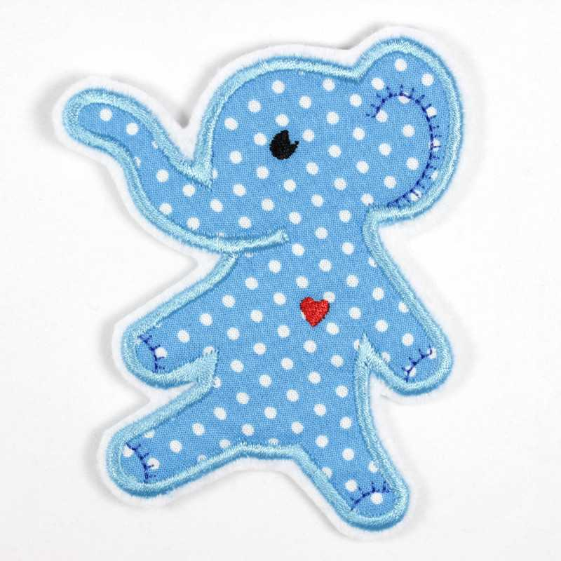 Iron-on patch elephant as appliqué to iron on or patches and accessories, patch for children
