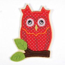 iron-on patches owl partially fleece soft applique and accessory