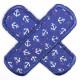 Flickli® Hosenflicken Pflaster Anker weiss auf blau