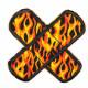 Flicken Feuer und Flamme in Pflasterform
