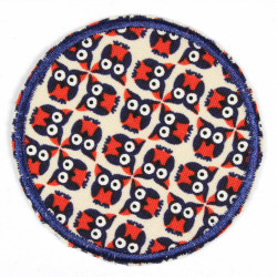 Iron-on patches with owls as a motif, ideal as an elbow patch or knee patch