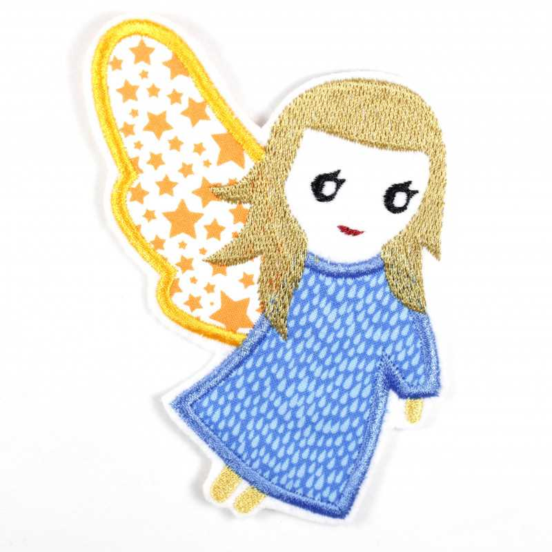 Iron-on transfer angel as an appliqué to iron on or patches and accessories, patch for children