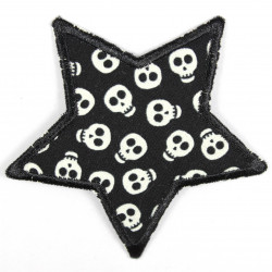 Flickli - the patch! Star with little skulls
