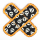 Flickli - the patch! pavement with skulls glow in the dark and neon orange