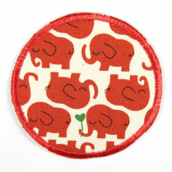 Flickli - the patch! elephants red