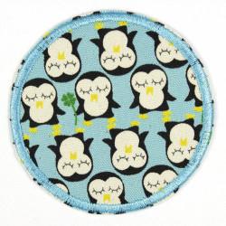 rund Pinguin blau