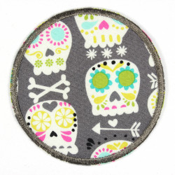 Flickli - the patch! round skull