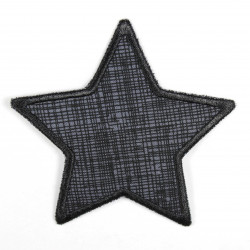 Flickli - the patch! star grid black