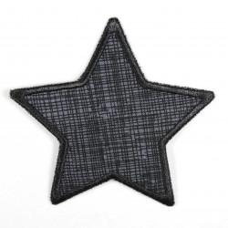 Flickli Stern Gitter schwarz