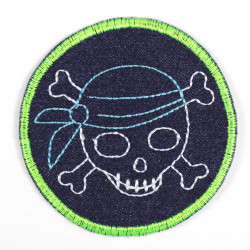 pirate patches neon green