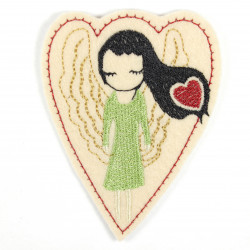 Iron-on transfer angel as an applique to iron on or patches and accessories