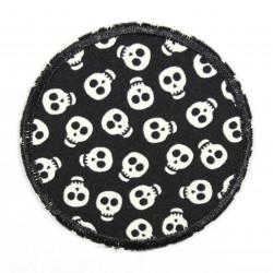 Flickli rund skulls nachtleuchtend