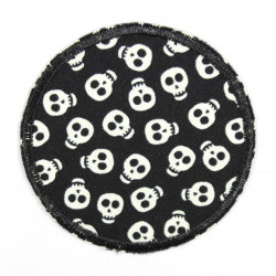 Flickli - the patch! round skulls glow in the dark