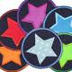 Flickli - the patch! denim with applied corduroy star purple
