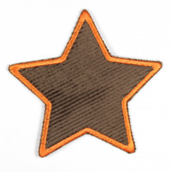 Iron-on patches star brown with orange border patch can be used as a knee patch